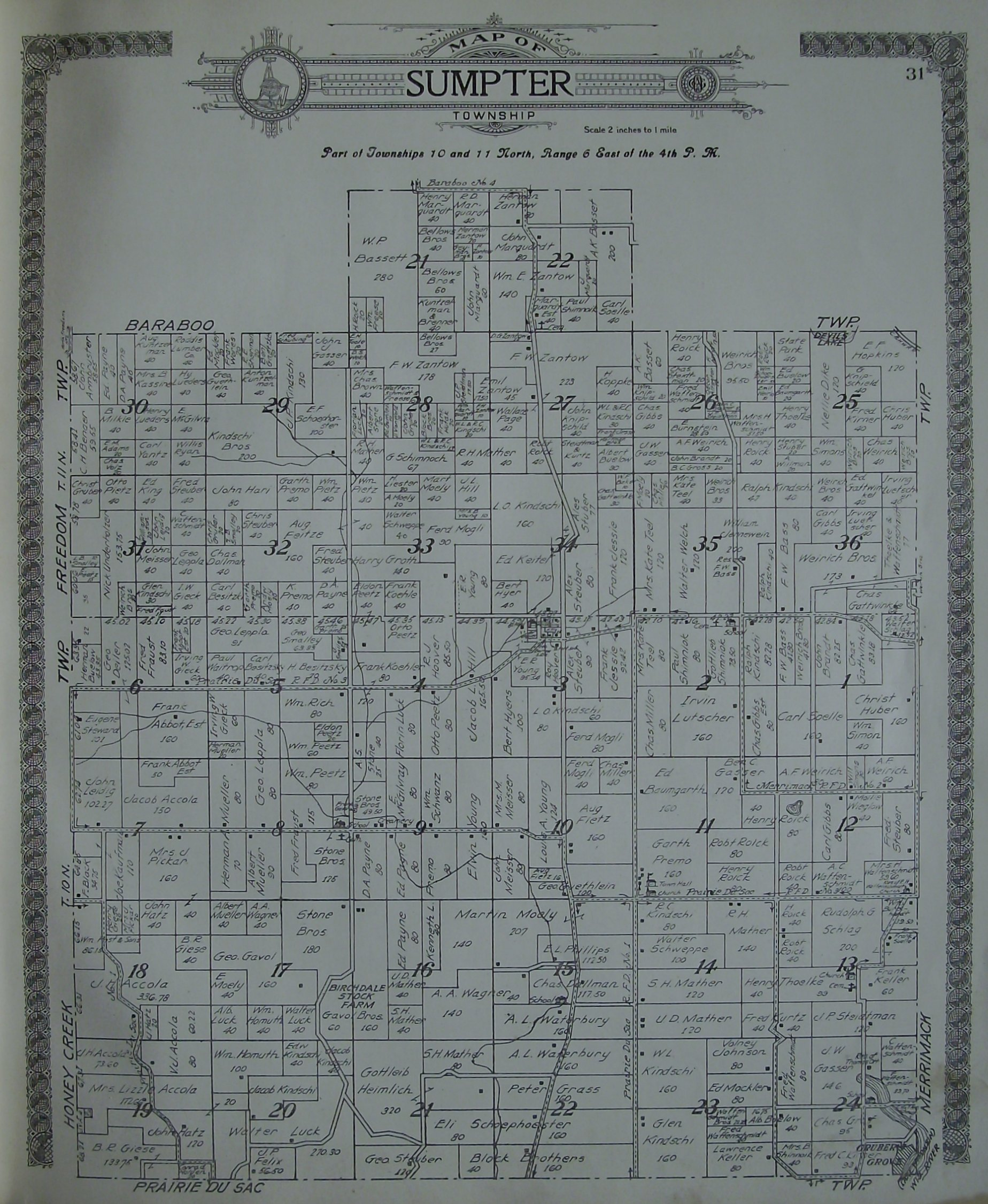 Local History Wisconsin Heyer Engineering Schematics Click On The Map To Open A Higher Resolution Image In New Window